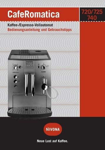 CafeRomatica Kaffee-/Espresso-Vollautomat ... - Nivona