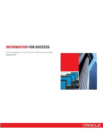 Oracle Database 11g Customer Reference Booklet