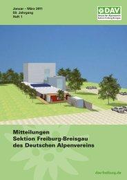 termine - Deutscher Alpenverein Sektion Freiburg-Breisgau