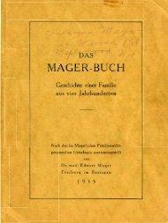 mager-buch - Zellner Family Genealogy