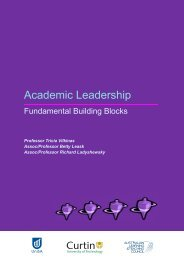 Academic Leadership - Curtin University of Technology