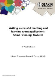 Writing successful teaching and learning grant ... - Deakin University