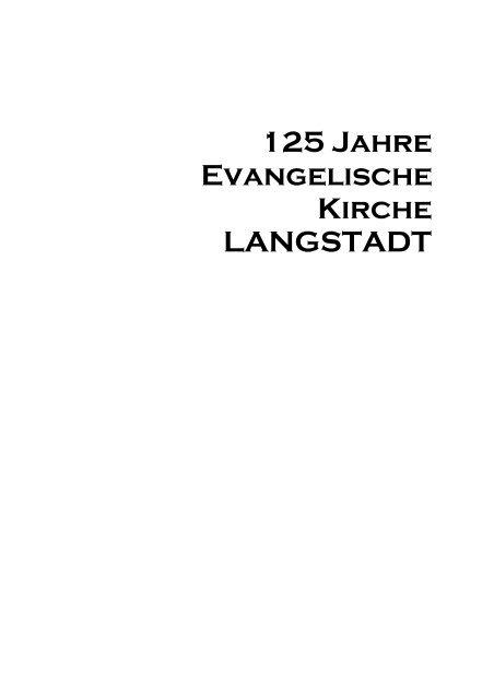 125 Jahre Evangelische Kirche Langstadt