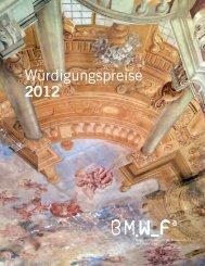 Würdigungspreise 2012 - Bundesministerium für Wissenschaft und ...