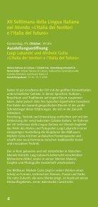 Kulturprogramm September-Dezember 2012 - Istituto Italiano di ... - Seite 6