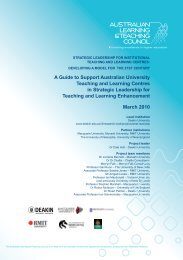 A Guide to Support Australian University Teaching and ... - cadad