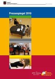 Pressespiegel 2010 - Städtische Musikschule Aschaffenburg