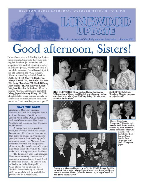 Order Your AOL Memorabilia - Academy of Our Lady Alumnae ...