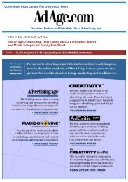 100 Leading Media Companies Report - Advertising Age