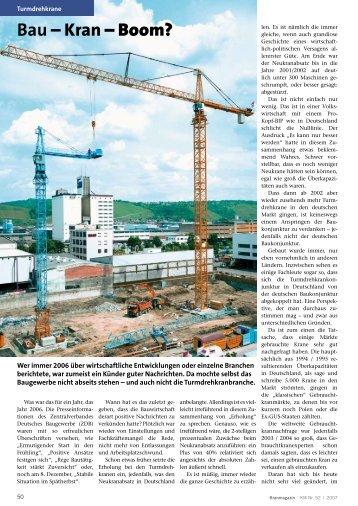 Bau – Kran – Boom? - KM-Verlags GmbH