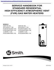 service handbook for standard residential high efficiency