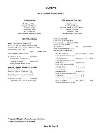 ZONE 05 - Society of Physics Students