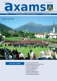 3,07 MB - Gemeinde Axams - Land Tirol