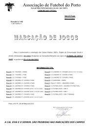 Marcações Jogos Futebol 7 a - Associação de Futebol do Porto