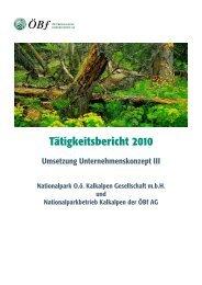 Tätigkeitsbericht 2010 - Nationalpark Kalkalpen