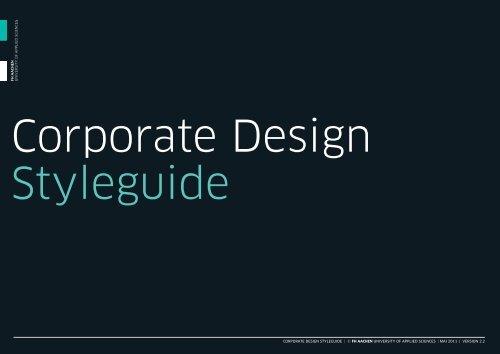 Corporate Design Styleguide C Fh Aachen University
