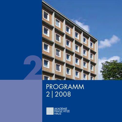 PROGRAMM 2 2008 - Franz-Hitze-Haus