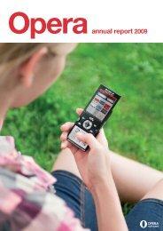 Annual Report 2009 | Opera Software ASA 1