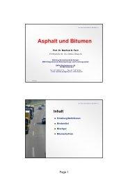 Asphalt und Bitumen - IfB