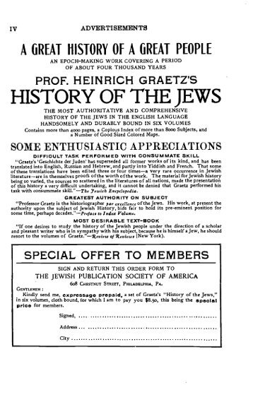 HISTORY OF THE JEWS - AJC Archives