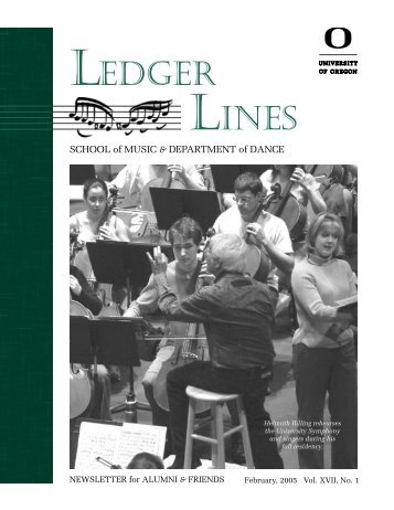 LEDGER LINES - School of Music - University of Oregon
