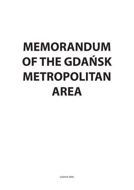Memorandum Of The Gdańsk Metropolitan Area