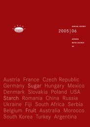 Austria France Czech Republic Germany Sugar Hungary ... - Agrana