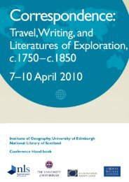 correspondence: travel, writing, and literatures of - University of ...
