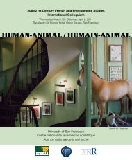 HUMAN-ANIMAL / HUMAIN-ANIMAL - University of San Francisco