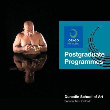 Dunedin School of Art Postgrad Booklet.indd - Otago Polytechnic