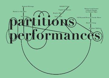 partitions (performances) - Fondation d'entreprise Ricard