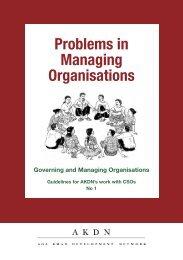 148. Problems in Managing Organisations - Aga Khan Development ...