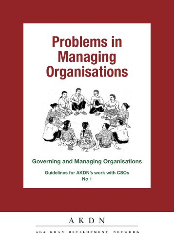 148. Problems in Managing Organisations - Aga Khan Development ...
