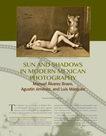 Sun and Shadows in Modern Mexican Photography Manuel