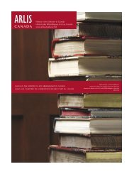 History of Art Libraries in Canada Histoire des ... - Arlis/NA Canada