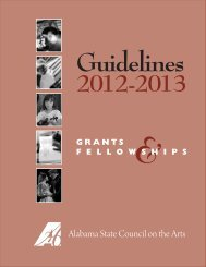 Guidelines - Alabama State Council on the Arts - Alabama.gov