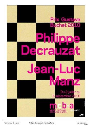 Prix Gustave Buchet 2010 Philippe Decrauzat et Jean-Luc Manz
