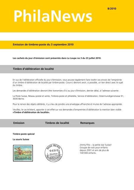 PhilaNews 08/2010Le lien est ouvert dans - La Poste Suisse
