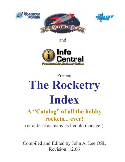 Rocketry Index 12-06 pdf - The Rocketry Forum