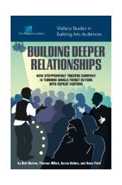 Building Deeper Relationships - The Wallace Foundation