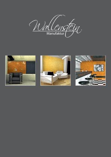 Imagebroschüre 4MB - Wallenstein-Manufaktur