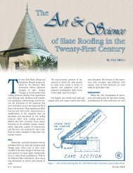 The Art and Science of Slate Roofing in the Twenty-First Century