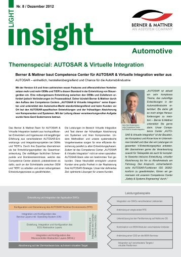 Automotive - Berner & Mattner