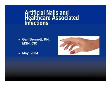 Artificial Nails and Healthcare Associated Infections - ICP Associates