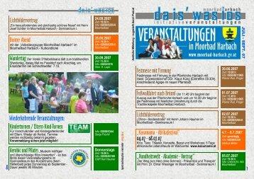 Wiederkehrende Veranstaltungen: - Gemeinde Moorbad Harbach