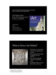 What is Grove Art Online? - The Getty