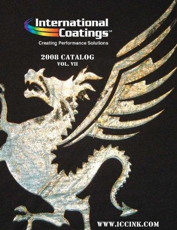 2008 CATALOG WWW.ICCINK.COM