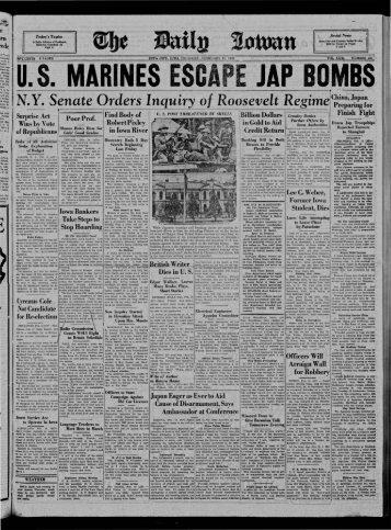 1 - The Daily Iowan Historic Newspapers - University of Iowa