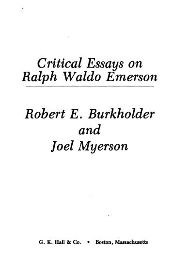 an analysis of the secret letters of ralph waldo emerson by joel myerson