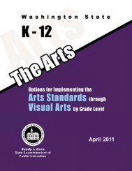 Art Standards for Visual Arts - Office of Superintendent of Public ...